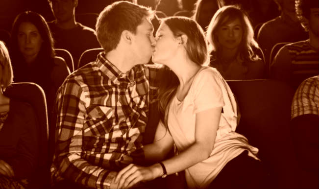 making out in movie theatre